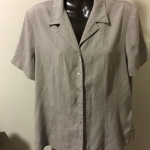 Requirements Gray Button Shirt Size M